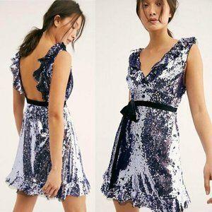 NEW Free People Sequin Siren Mini DressSZ 2